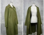 March Sale Vintage Samuel Martin Olive Green Lightweight Raincoat Nino Flex | The Flag Line | Mod 1960s | Womens Med | 34-38 Bust
