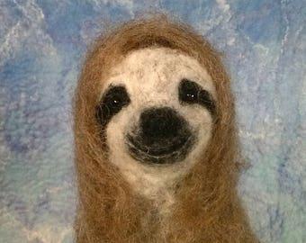 Three Toed Sloth Needle Felt