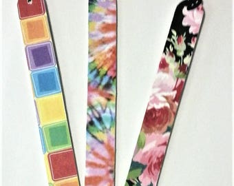 set of three bookmarks , colorful , practical
