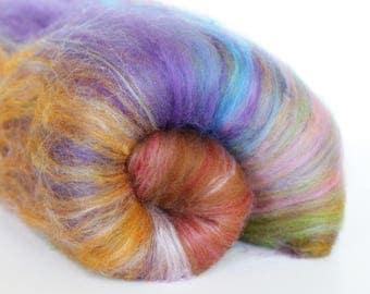 Eclipse 3.2 oz  Wool - Merino // Art Batt // Wool Art Batt for spinning or needle felting