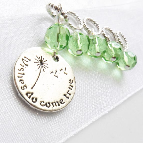 Wishes Do Come True - Five Handmade Stitch Markers - Fits Up To 5.5mm (9 US) - Last Sets