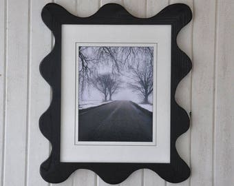 16x20 Funky Picture Frame Painted Black with Mounting Hardware