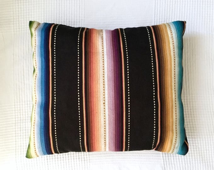 Featured listing image: Serape Stripe Pillow, Decorative Throw Pillow, Ready to Ship