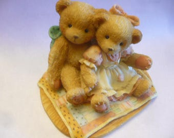 Cherished Teddies, Nathaniel & Nellie It's Twice As Nice With You, 1991, Priscilla Hillman, Registered, No Box, Excellent Condition