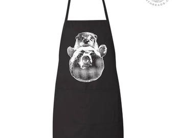 BEAR & OTTER Full Length Apron with 2 Pockets
