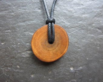 Unique Natural Wood Pendant - Magnolia - for Fidelity in Love.