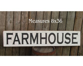 Extra Large FARMHOUSE Fixer Upper style wood sign 3 feet long