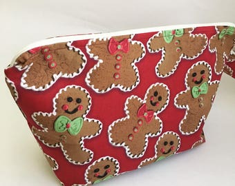 Gingerbread Man Medium Knitting Project Bag