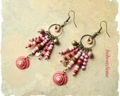 Boho Style Earrings, Fun Sea Shell Dangle Earrings, Boho Fashion, Bohemian Jewelry, bohostyleme, Kaye Kraus