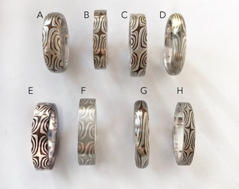 Special Size 5 Mokume ring""