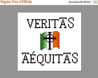 Christmas in July Boondock Saints Veritas Aequitas Cross Stitch PDF PATTERN ONLY