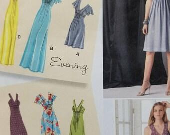 Designers Evening Dress Pattern Simplicity 2219 Misses Evening or Day Dress Stretch Knit Dress