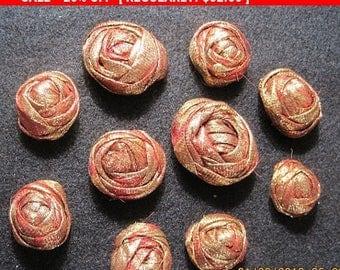 Vintage Lame Roses Appliques Trim