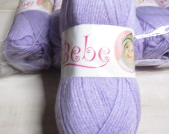 Oxford Bebe Baby Yarn in Lilac