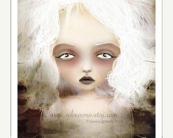 "50% Off SALE 5x7 Premium Art Print ""Mania"" Small Size Giclee Print - Lowbrow Art Lesser Known Greek Goddess"