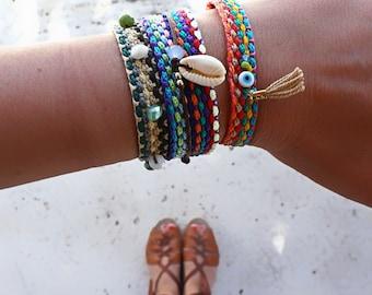 Friendship Bracelet Grab Bag. Summer Boho Chic Bracelets. Bohemian Style Friendship Bracelet.Hippie Summer Colorful Bracelet