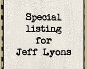 Special Listing for Jeff Lyons