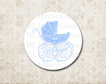 Stickers Envelope Seals Baby Boy Girl Pram Carriage Baby Shower Party Favor Treat Bag Stickers SB003