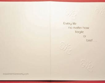 Baby Loss / Miscarriage Sympathy Card F 2 / Butterfly