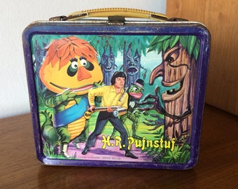 Vintage HR Pufnstuf & Witchiepoo Metal Lunchbox Retro 1970s Cartoon Original Krofft Costume Characters TV Show Toy Lunch Box