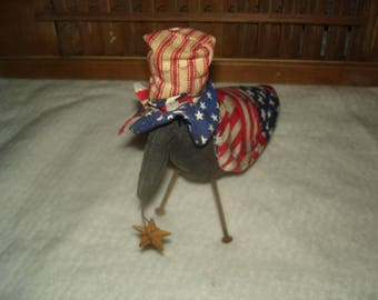 Made to Order, Americana Crow,Crow, Americana, Patriotic, Crows, 4th July, Veterans Day,Ofg, Faap, Hafair, Dub