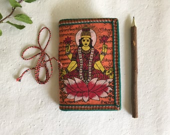 Laxmi Journal, Goddess of Wealth Prosperity, Pale Orange,Blank, Expenses Journal, Money Affirmation, Luck Affirmation Diary, Blank Diary