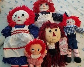 super sale raggedy Ann dolls lots