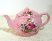 Crownford Teapot, Pink Floral Teapot, English Teapot
