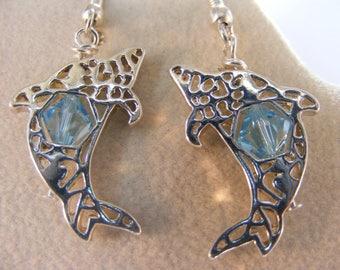 Blue Dolphin Earrings