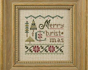 Lizzie Kate - A Little Christmas K61 - Counted Cross Stitch Pattern, Fabric, Embellishments