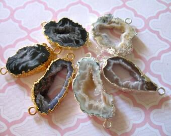Drusy Druzy Slice, Druzy Agate Slice, 15-35 mm, 24k Gold Edge Agate Drussy Druzzy, Jewelry Supply, ap31.8.c