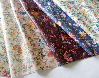 P Kaufman fabric, 100% cotton, 6 large fabric samples, coordinated, crafts, sewing, upholstery, pillows