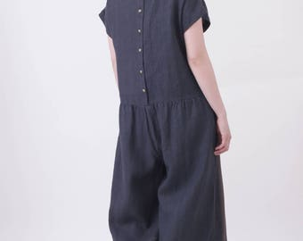 Charcoal Linen All in one