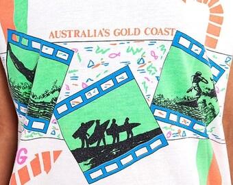 40% OFF The Vintage Neon Aussie Gold Coast Surfing Tee