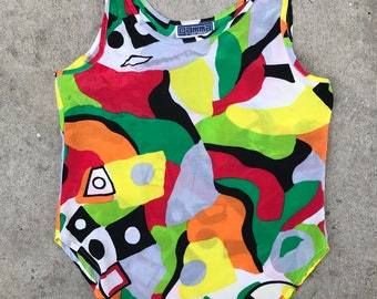 Abstract Colorful Gamma Los Angeles Vintage Tank