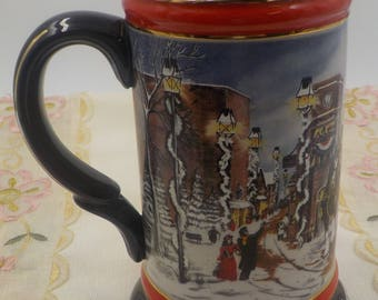 Budweiser Christmas Stein - Beer Stein -1992 Collectors Series - Made in Brazil - Excellent condition