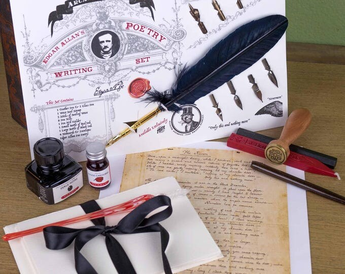 Featured listing image: Edgar Allan's Poe'try Writing & Calligraphy Set