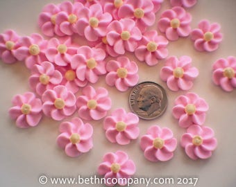 Royal Icing Flowers - Small Drop Flowers - Cake Toppers - Edible Cake Decorations