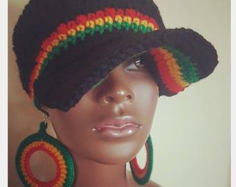 RBG Sol Divine Being Crochet Cap and Earrings