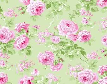 Charlotte from Tanya Whelan  Large Floral in Green  YES!! Continuous fabric cuts and shipping is combined