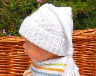 40% OFF SALE knitting pattern digital pdf download - Baby Wee Willie Winkie Hat pdf knitting pattern  - madmonkeyknits