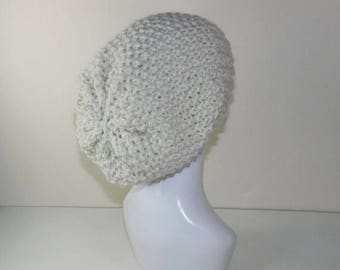 40% OFF SALE Instant Digital File pdf download - Super Chunky Moss Stitch Slouch Hat knitting pattern
