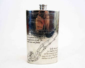 Vintage St. Andrews Golf Course Flask. Sheffield England. Circa 1980's.