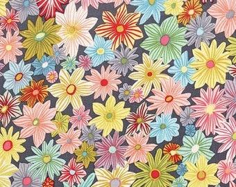 Michael Miller Fabric Daisy Garden in color cloud Choose your cut