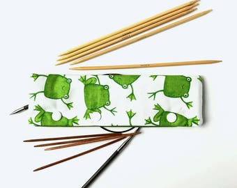 Hoppy Frogs - DPN & Circular Needle Holder