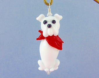 Bulldog Ornament or Pendant - Lampwork Glass Bead Creation SRA