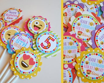 Emoji Birthday Party Decorations Package Fully Assembled  | Emoji Party | Tween Birthday Party | Teen Birthday Party | Cell Phone Party