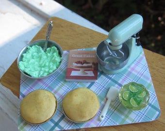 Lime Cream Cake Prep Board