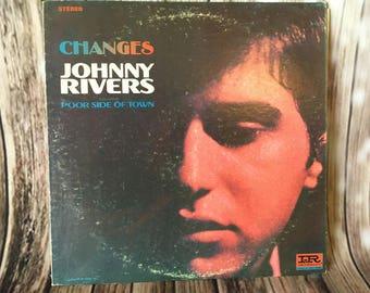 Johnny Rivers Vinyl Record Album - CHANGES - 1966 - 33 RPM  LP -  Imperial Records ~ Folk Singer  ~ Retro Music ~ Singer Songwriter
