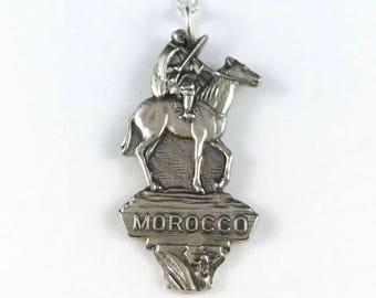 Morocco Necklace, Morocco Charm, Morocco Jewelry, Vintage Morocco, Wife Gift, Morocco Gift, Morocco Souvenir, Morocco Necklace, Morocco